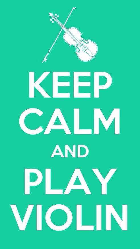 Keep Calm And Play Violin Wallpaper In Aqua Music Violin