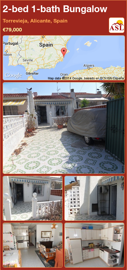 Bungalow for Sale in Torrevieja, Alicante, Spain with 2