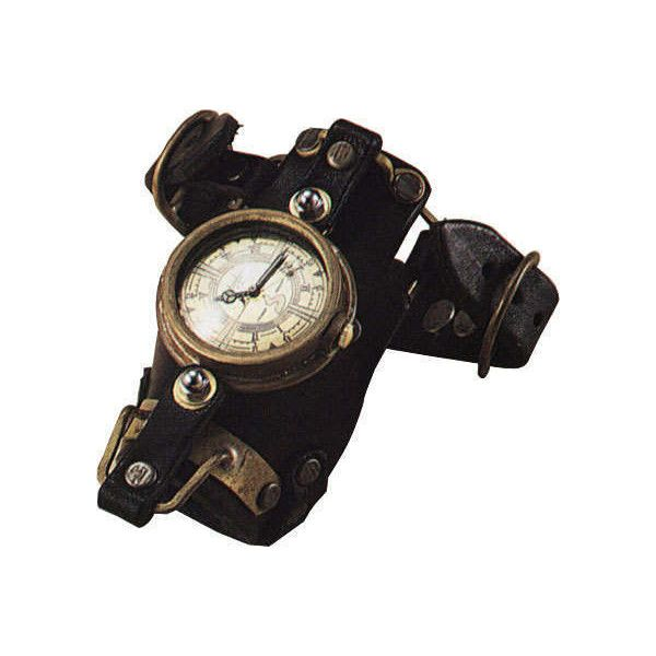 steampunk watch ❤ liked on Polyvore featuring jewelry, watches, steampunk, accessories, bracelets, steampunk jewellery, steampunk wrist watch, steampunk wristwatch, steam punk watches and steampunk jewel