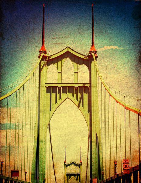 b4868a478a6 St. John s Bridge Portland Oregon Art Print