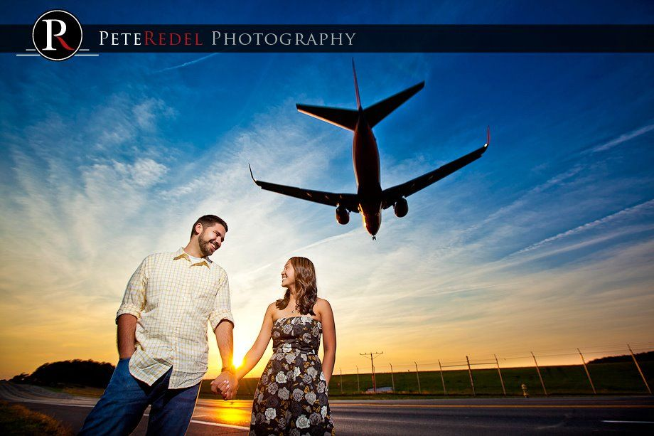 Great couple and a cool shot near BWI airport