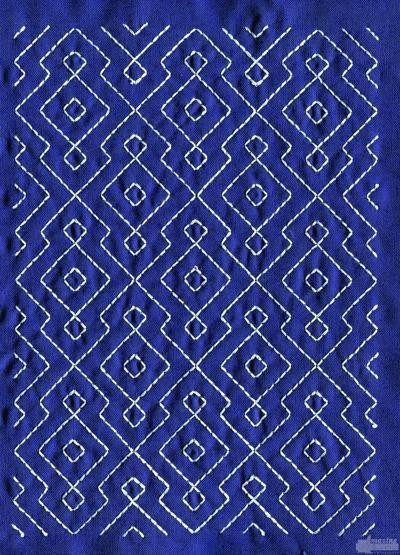 Sashiko Quilt Embroidery Design Japanese Sashiko Embroidery