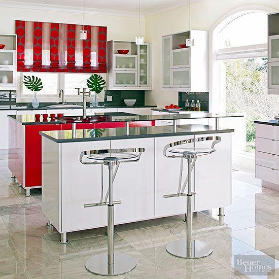 Red Kitchen Design Ideas Cocinas kitchen, Fiestas y Cocinas