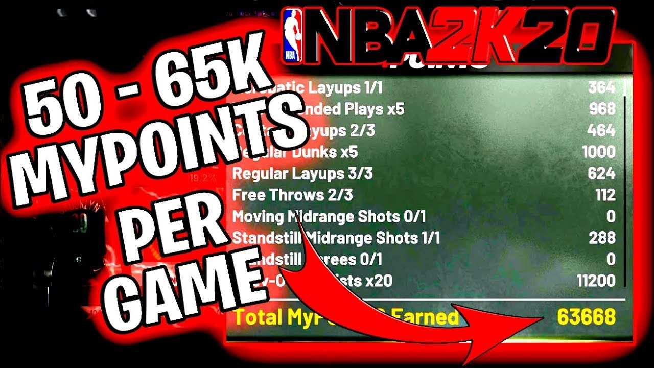 Nba 2k20 Best Repup Method Get 63k Mypoints Per Game For Pg S