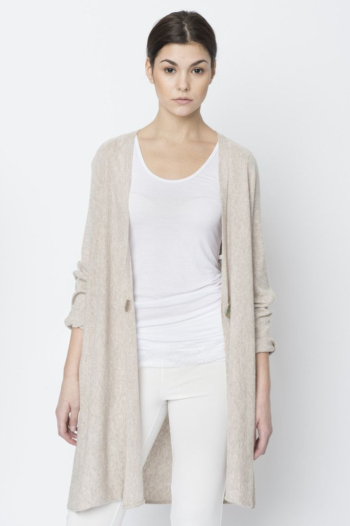 Via Strozzi Long Single Button Cardigan Long and flowing, this ...