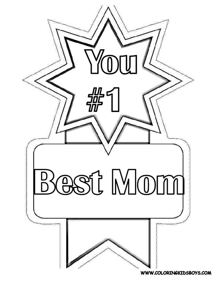 1 Best Mom Award Mothers Day Coloring Pages Mothers Day
