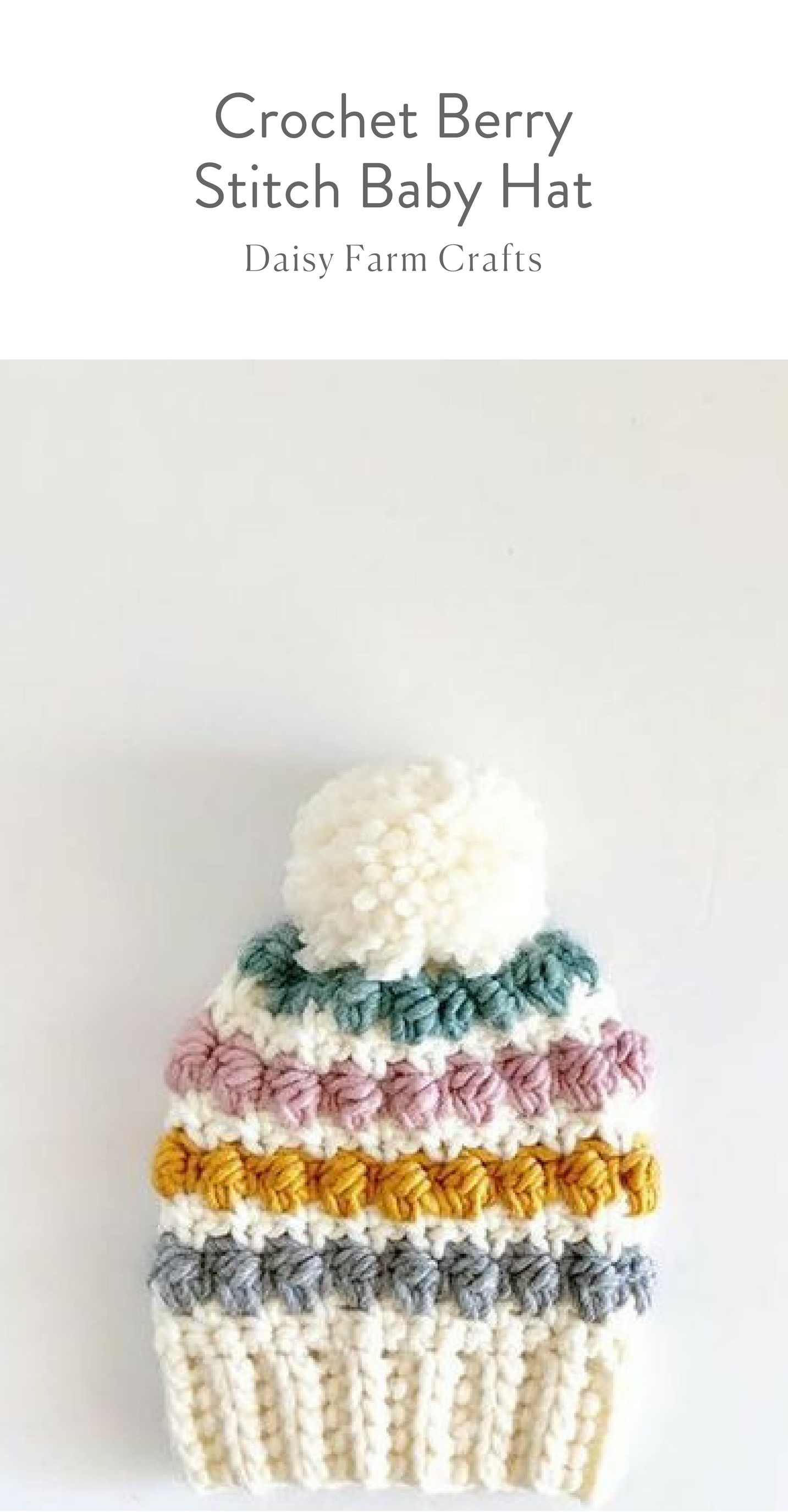 Free Pattern - Crochet Berry Stitch Baby Hat #moderncrochet ...