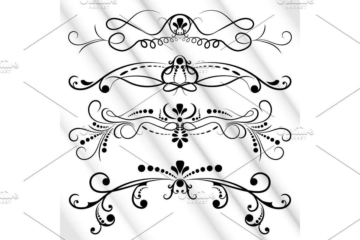Victorian Set White Ornate Page In 2020 Ornate Design Elements Victorian