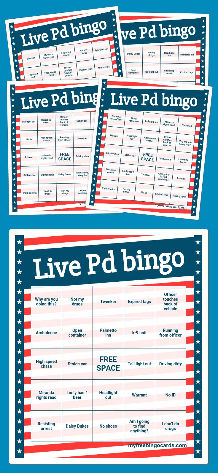 Live Pd bingo Bingo card generator, Bingo cards, Bingo