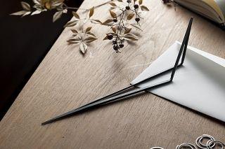 beyond Object Lino paper knife Matt Black Finish