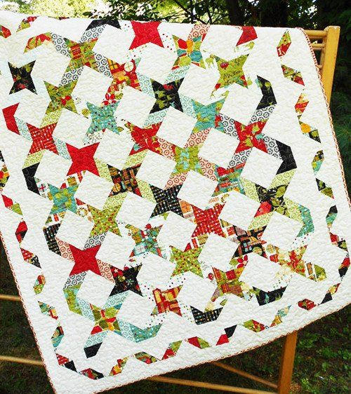 Quilt Pattern & Table Runner - Little Louise Designs - Twisting ... : twisted star quilt block - Adamdwight.com
