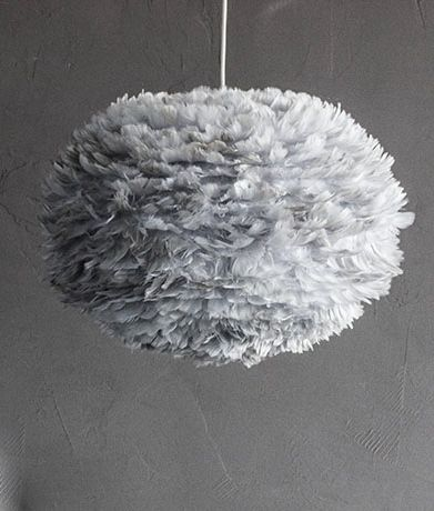 Feather Lampshade By VITA: EOS Feather Ceiling Light