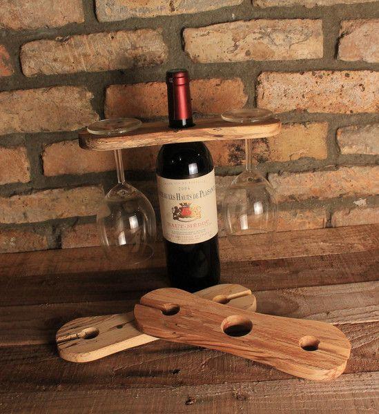 Weinregale - Wein-Caddy, Flaschenhalter für zwei Glas Wein - ein Designerstück von Richard-Mc-Inerney bei DaWanda #weihnachtsmarktideenverkauf