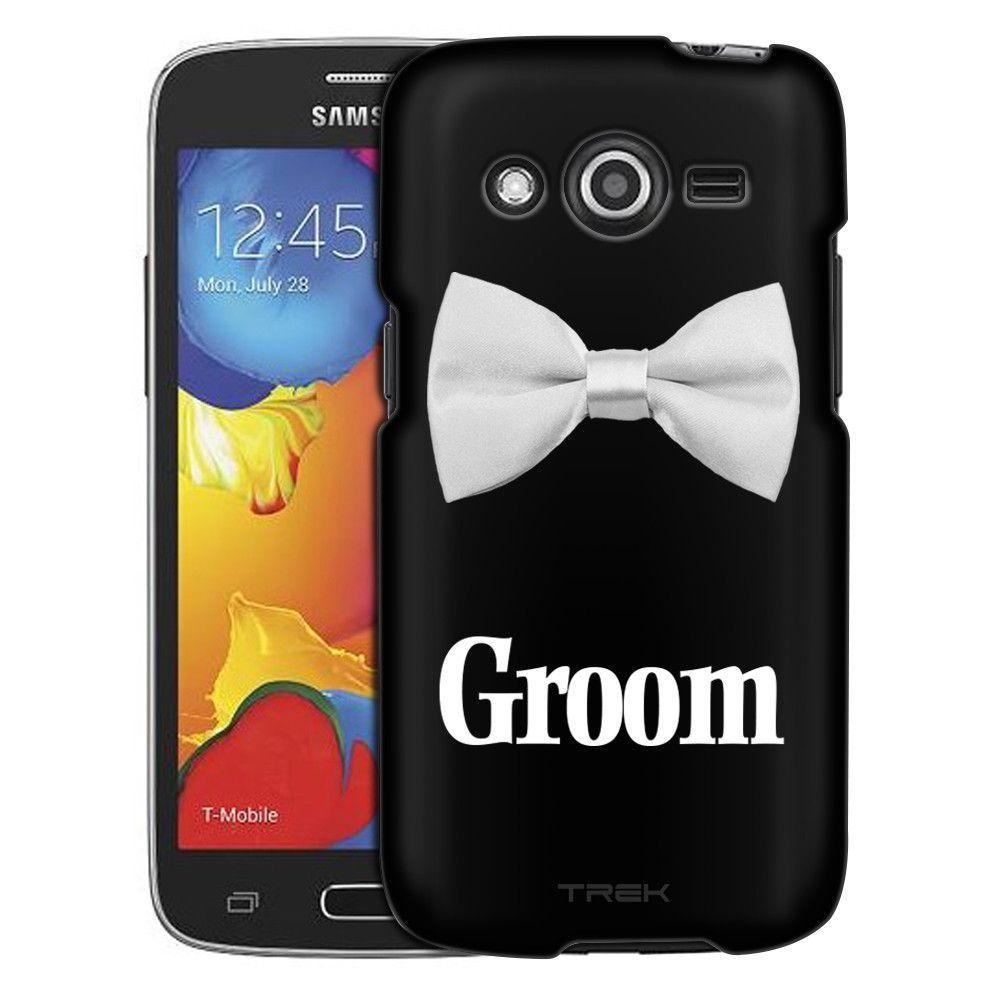 Samsung Galaxy Avant White Bowtie Groom Trans Case
