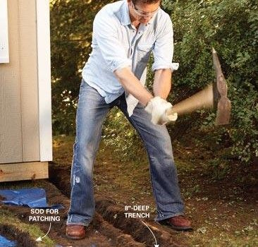 Electrical Wiring How to Run Power Anywhere garden