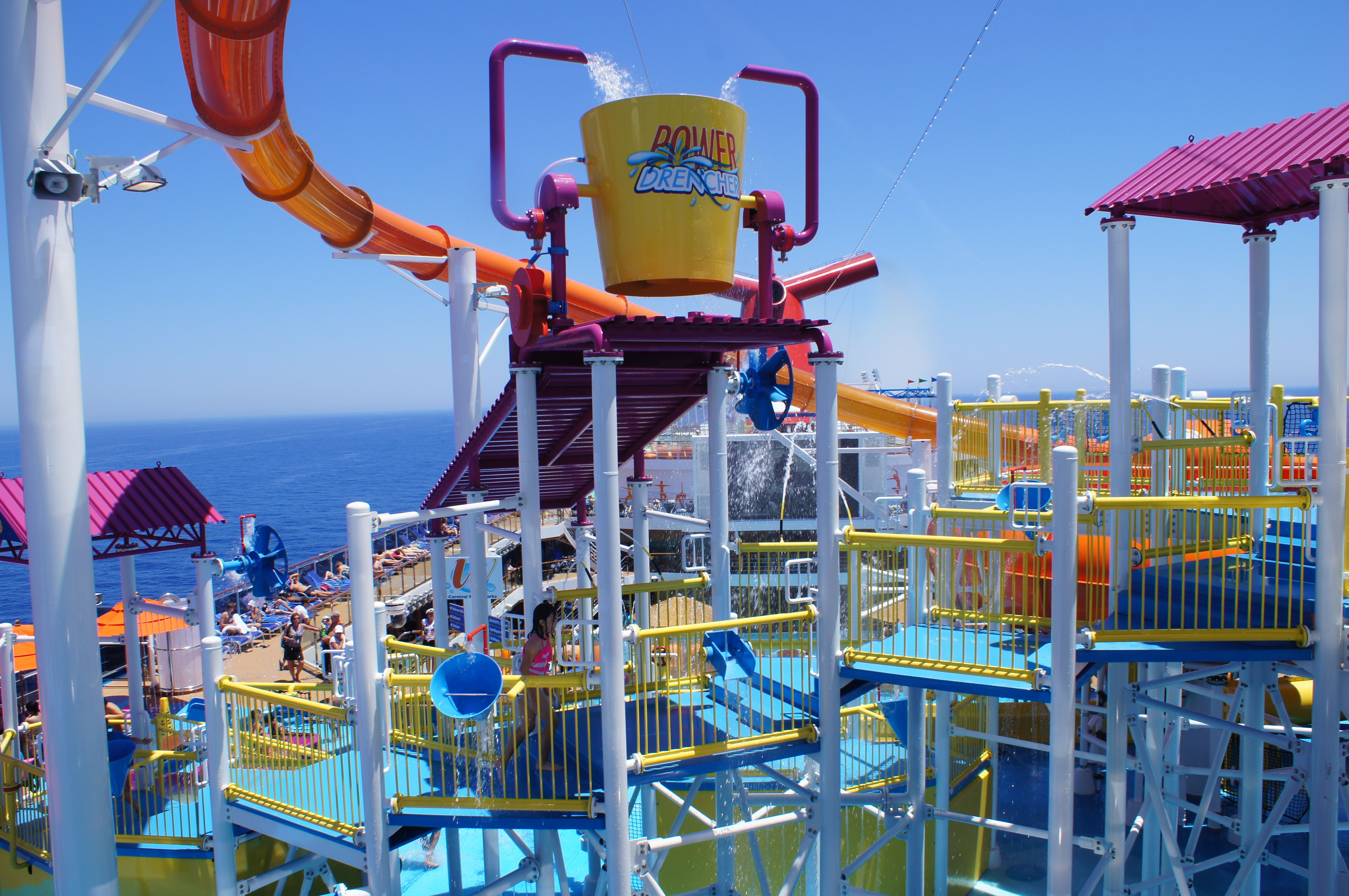 Carnival Breeze Water Works | Carnival cruise line ...