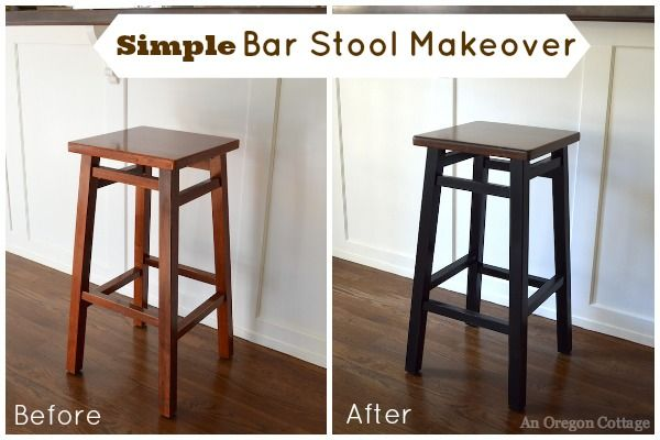 Don T Get Rid Of Those 15 Bar Stools Just Revamp Them Like This Easy Simple Stool Makeover Using Paint And Stained Seats An Oregon Cottage