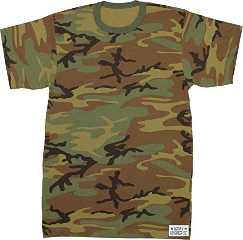 Army Universe Woodland Camouflage Short Sleeve T-Shirt wi... https ... c79e5fa8ff6