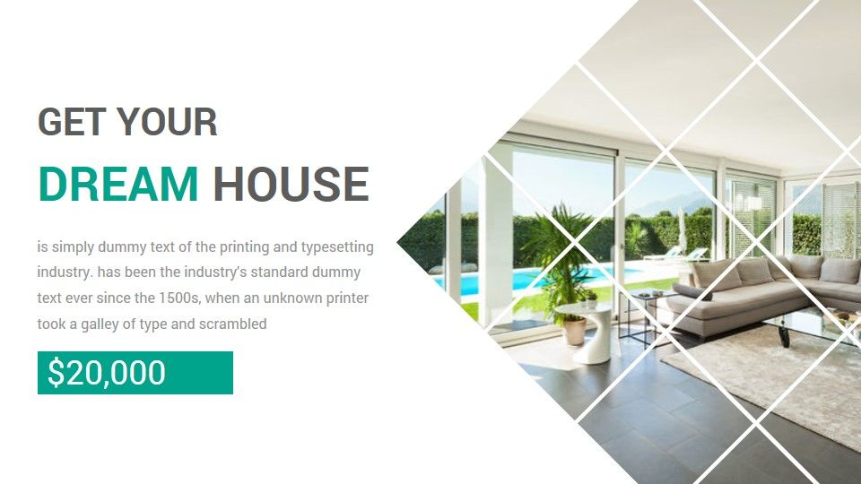 Real Estate Powerpoint Presentation Template Ad Estate