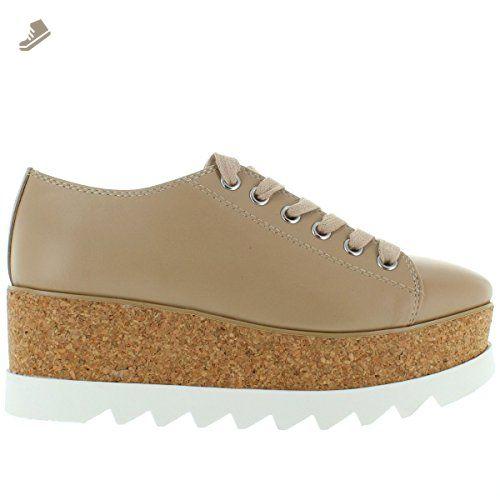 59bce4ea06c Steve Madden Korrie - Natural Leather High Platform Sneaker - Size  7.5 - Steve  madden