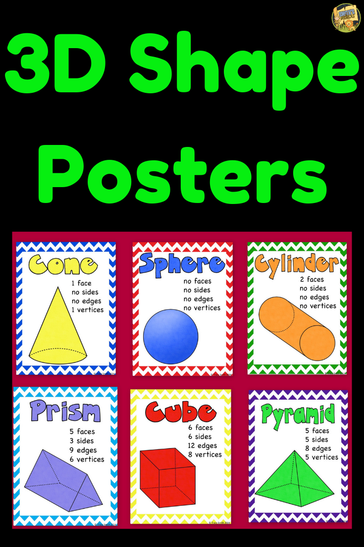 3d Shape Posters Just Print And Go With Images 3d Shape