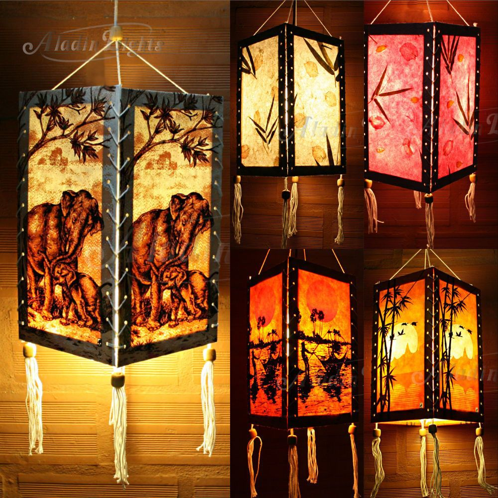 Gaiashine thailand oriental lampshade home lampslighting decor gaiashine thailand oriental lampshade home lampslighting decor collectables uk mozeypictures Images
