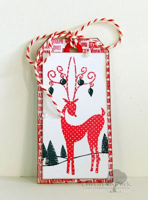 PaperbabeStamps Reindeer fusions and bottle brush trees
