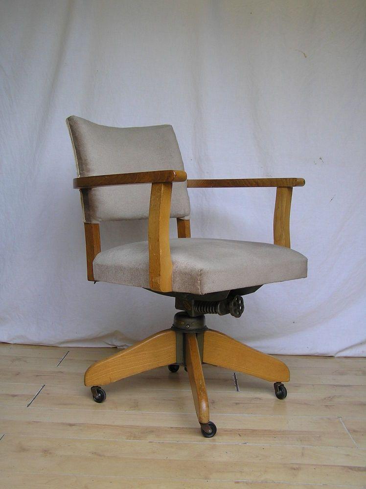 Vintage Hillcrest Desk Captains Office Oak 1950s Antique ...