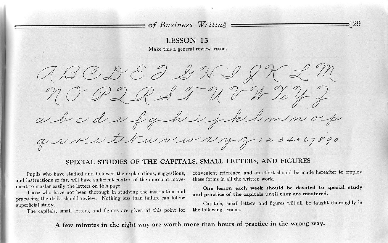 The Palmer Method of Business Writing, 1935 | Writing | Pinterest