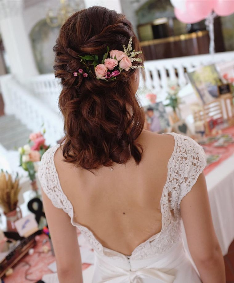 Wedding Entourage Hairstyle: Wedding Hairstyles For Short Hair (With Images)