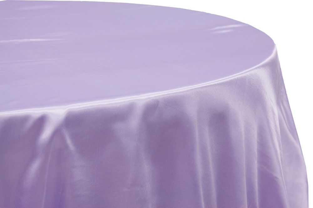 Satin 120 Round Tablecloth Lavender 120 Round Tablecloth