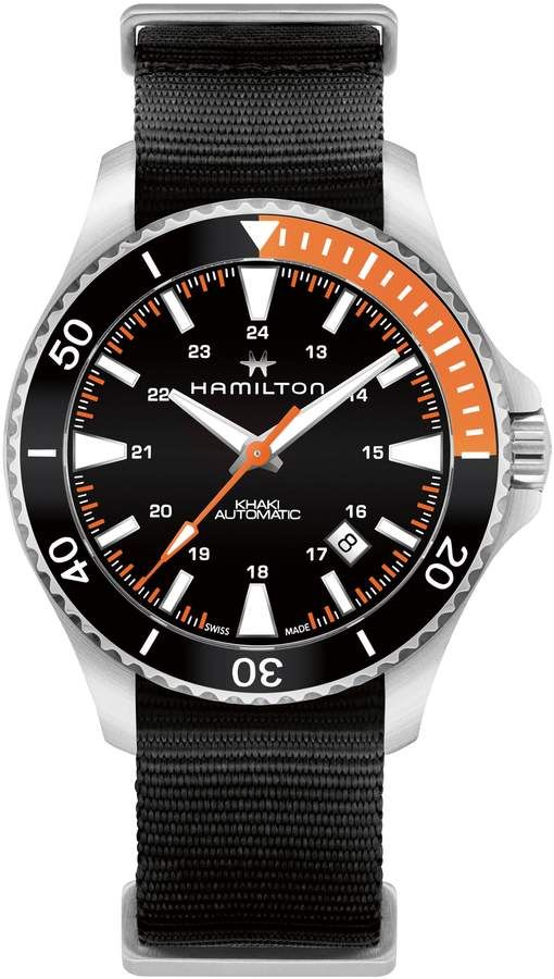 f5ab1fd1385 Hamilton Khaki Navy Scuba Automatic Canvas Strap Watch