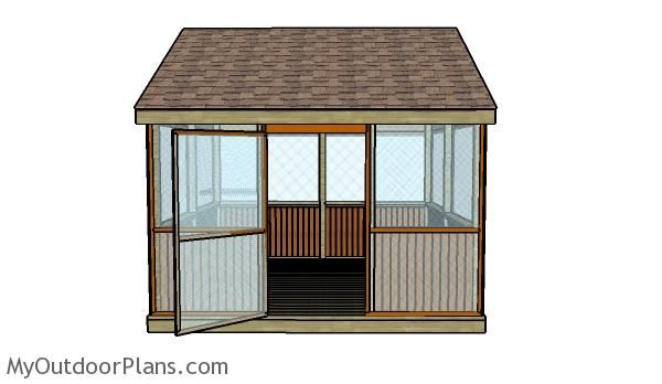 Screened Gazebo Plans Howtospecialist How To Build Step By