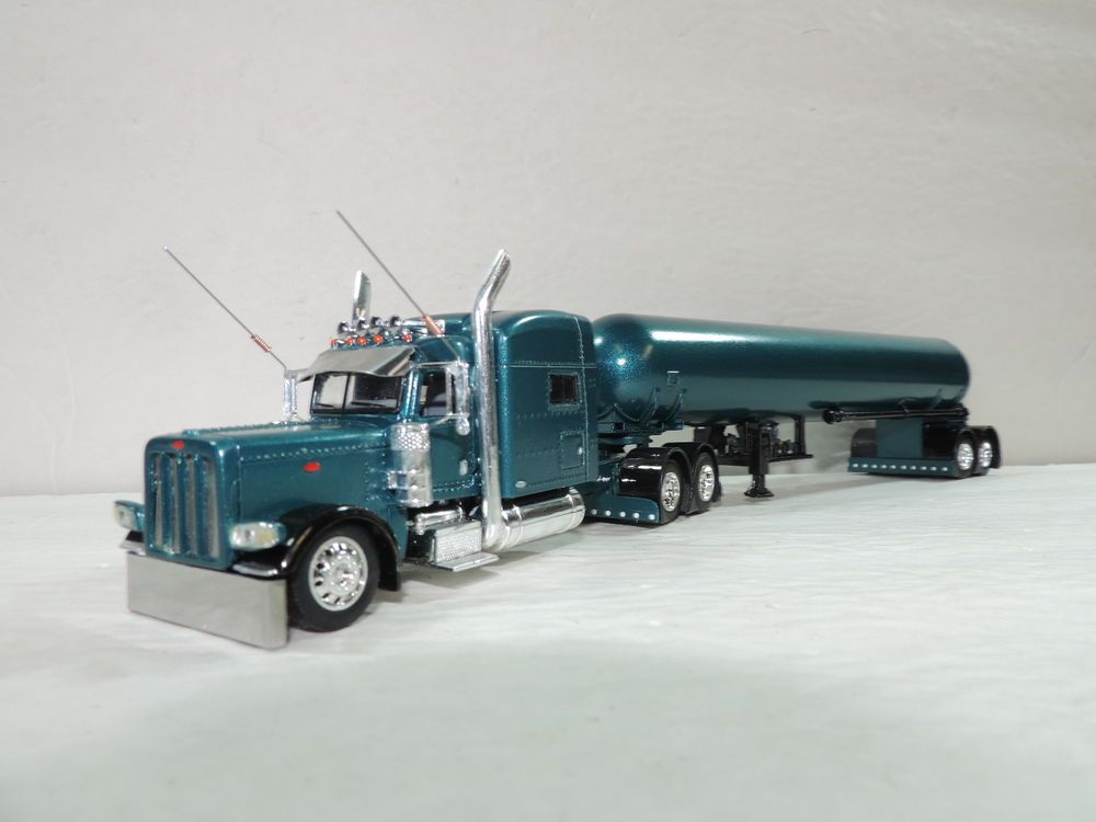 Dcp Custom Stretched Peterbilt 389 70 W Tandem Axle Bottle Trailer 1 64 Dcpcastpromotions