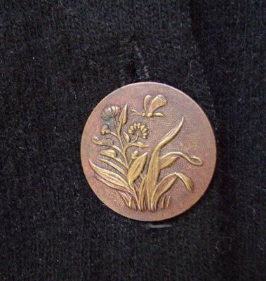 Antique French brass button.