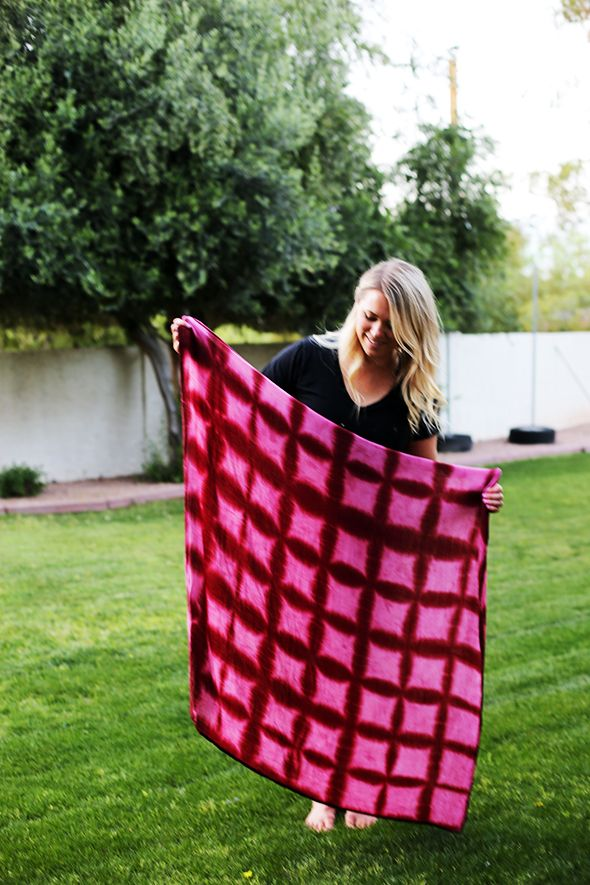 Easy Shibori Tutorial And A Pillow Giveaway Create
