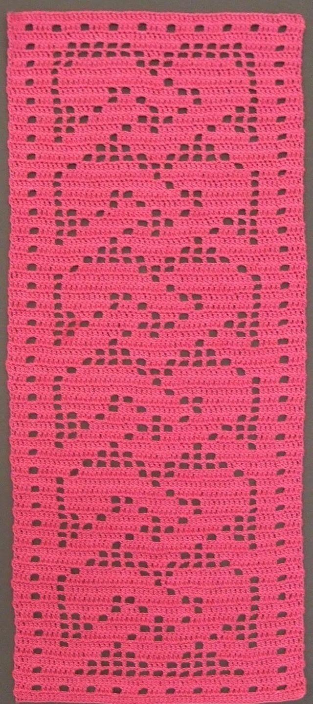 Tapete coração   crochet placemats   Pinterest