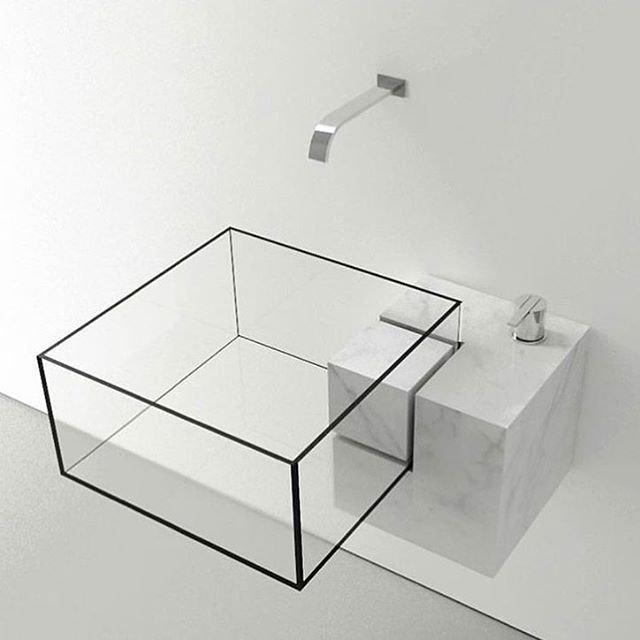 Milan Based Architect Victor Vasilev Designed KUB, A Nearly Invisible  Bathroom Sink. The Minimal Design Is Available In Two Sizes And Features A.