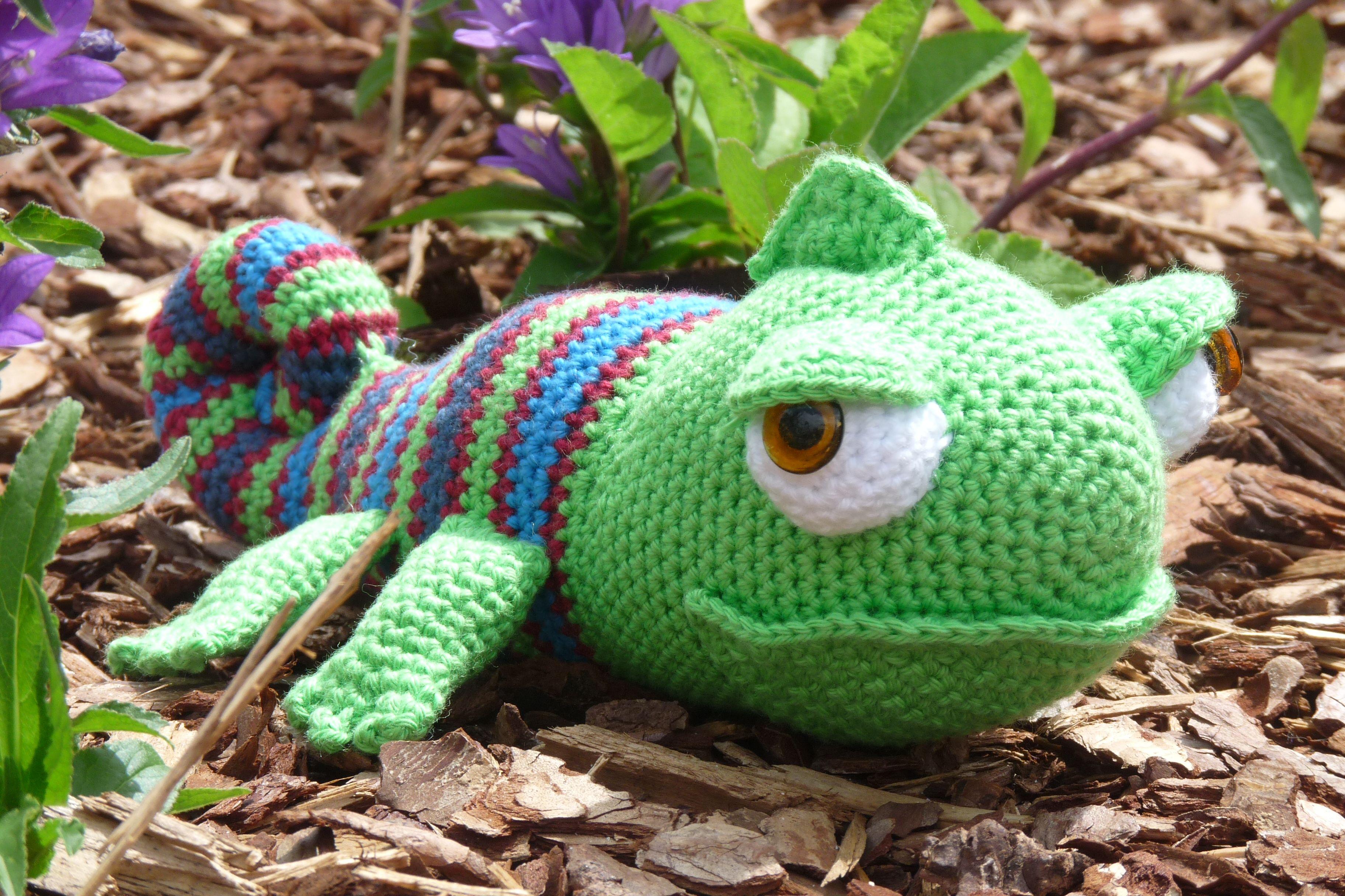 Karen Kameleon Patroon Kleine Knuffels Haken Christel Krukkert