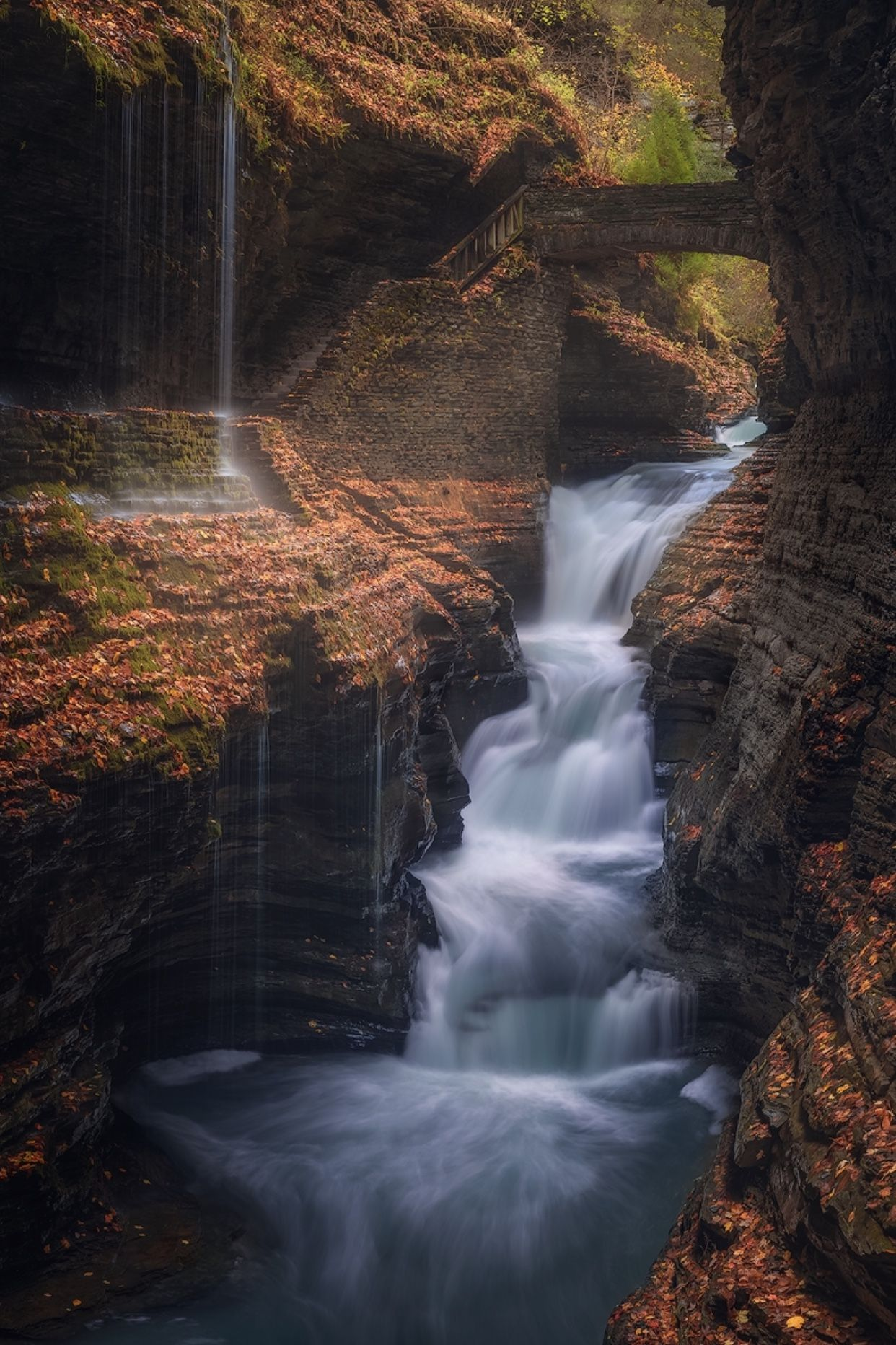 Waterfalls Dreamy Landscape Finger Lakes New York Fall Autumnscapes Upstate New York Photography W In 2020 Nature Photography Dreamy Landscapes Photography