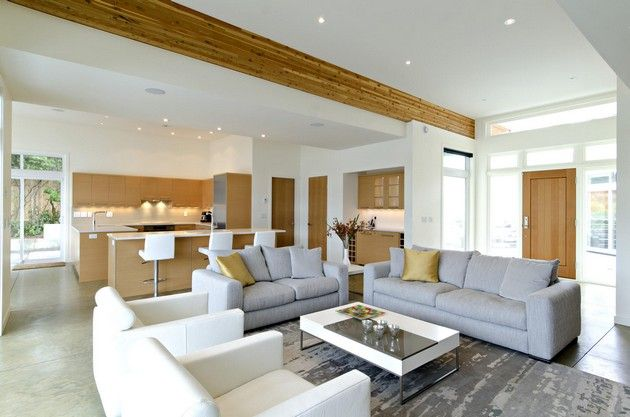 Modern Kitchen And Living Room Designs Combine Novocom Top