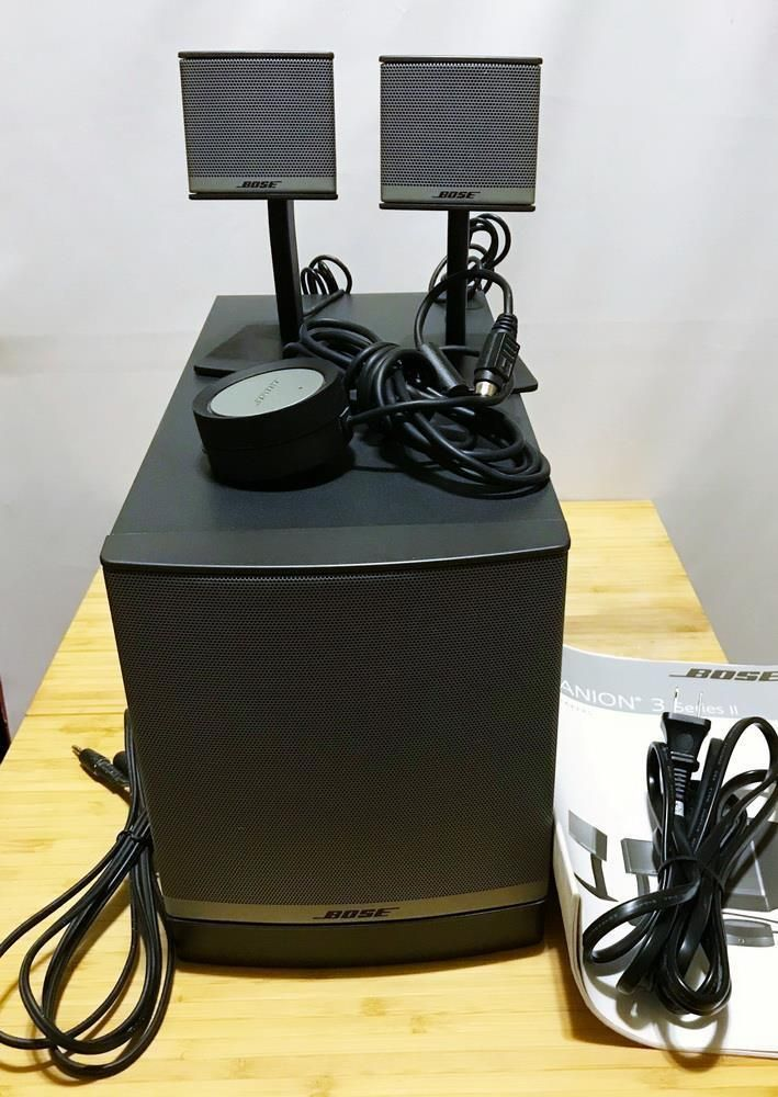 Bose Companion 3 Series 2 Ii Multimedia Speaker System Black Manual Multimedia Speakers Speaker System Multimedia
