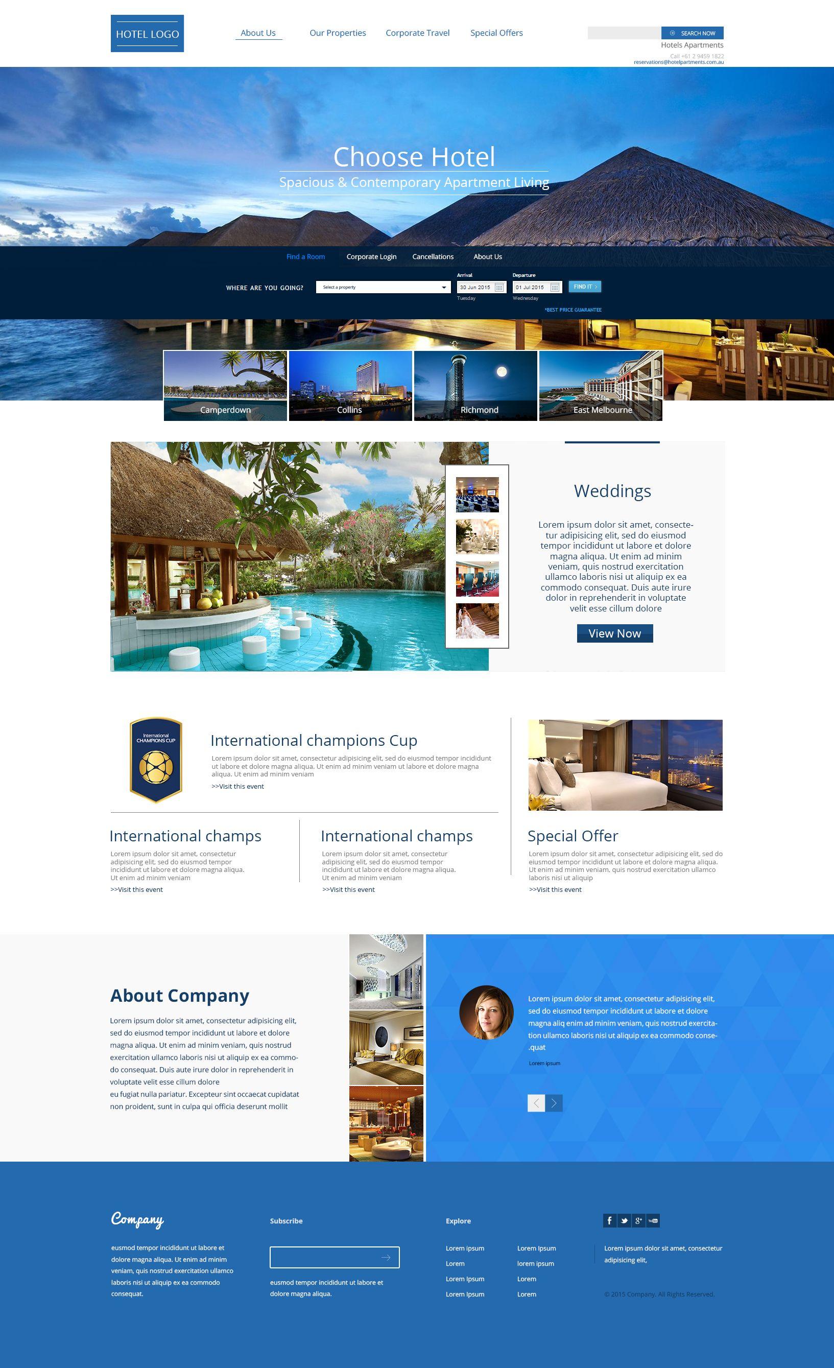 Luxury Hotel Web Templetes Hotel Website Design Hotel Hotel Website