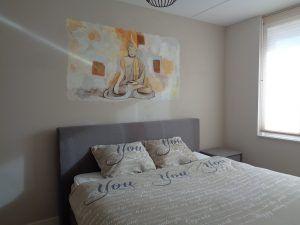 Boeddha slaapkamer muurschildering door Saskia de Wit ...