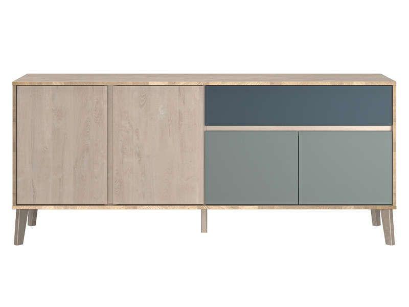 Buffet 4 portes 1 tiroir NIELS - Conforama Conforama Pinterest - Conforama Tables De Cuisine