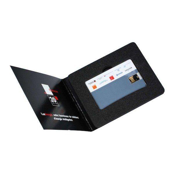 Berühmt Packaging carton personnalisé pour clé USB au format d'une carte  TA85