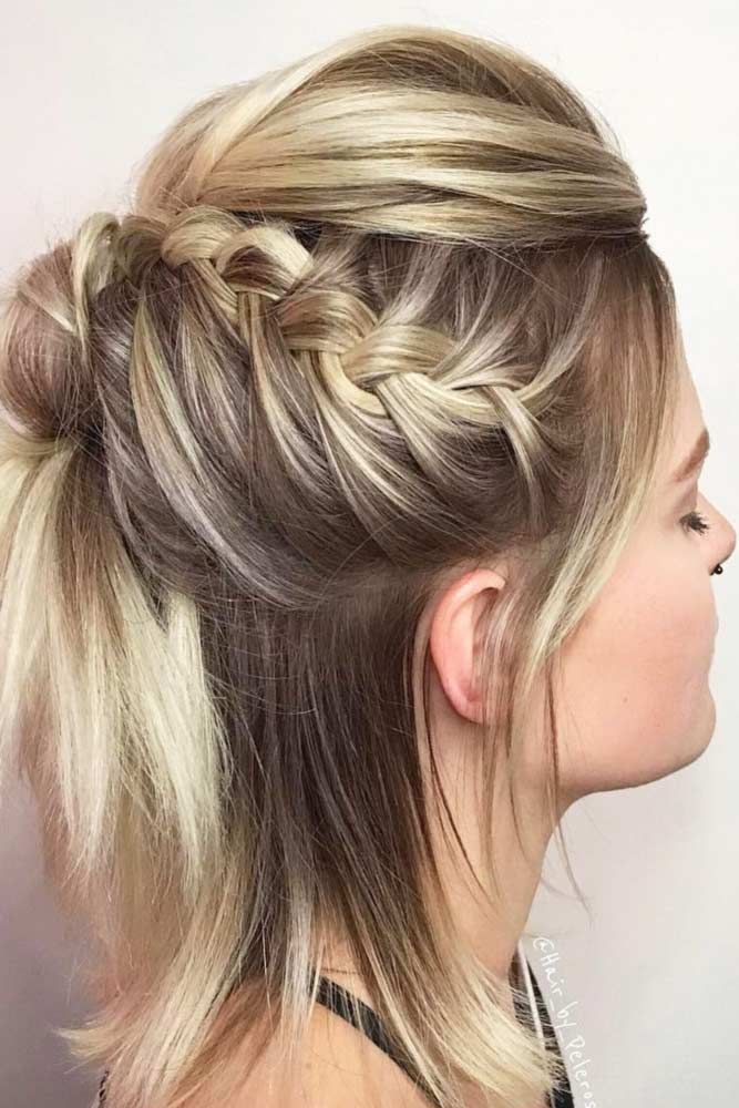 Braided Hairstyles For Short Hair Awesome 27 Cute Braided Hairstyles For Short Hair  Hairstyle Shorts And Plaits