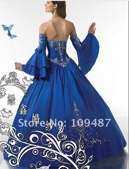 sapphire blue wedding dress | Wedding