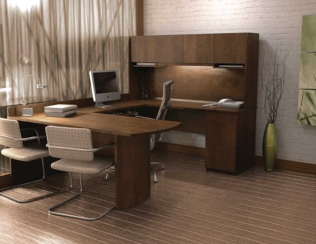 Contemporary U Shaped Computer Desk And Chair Collection U