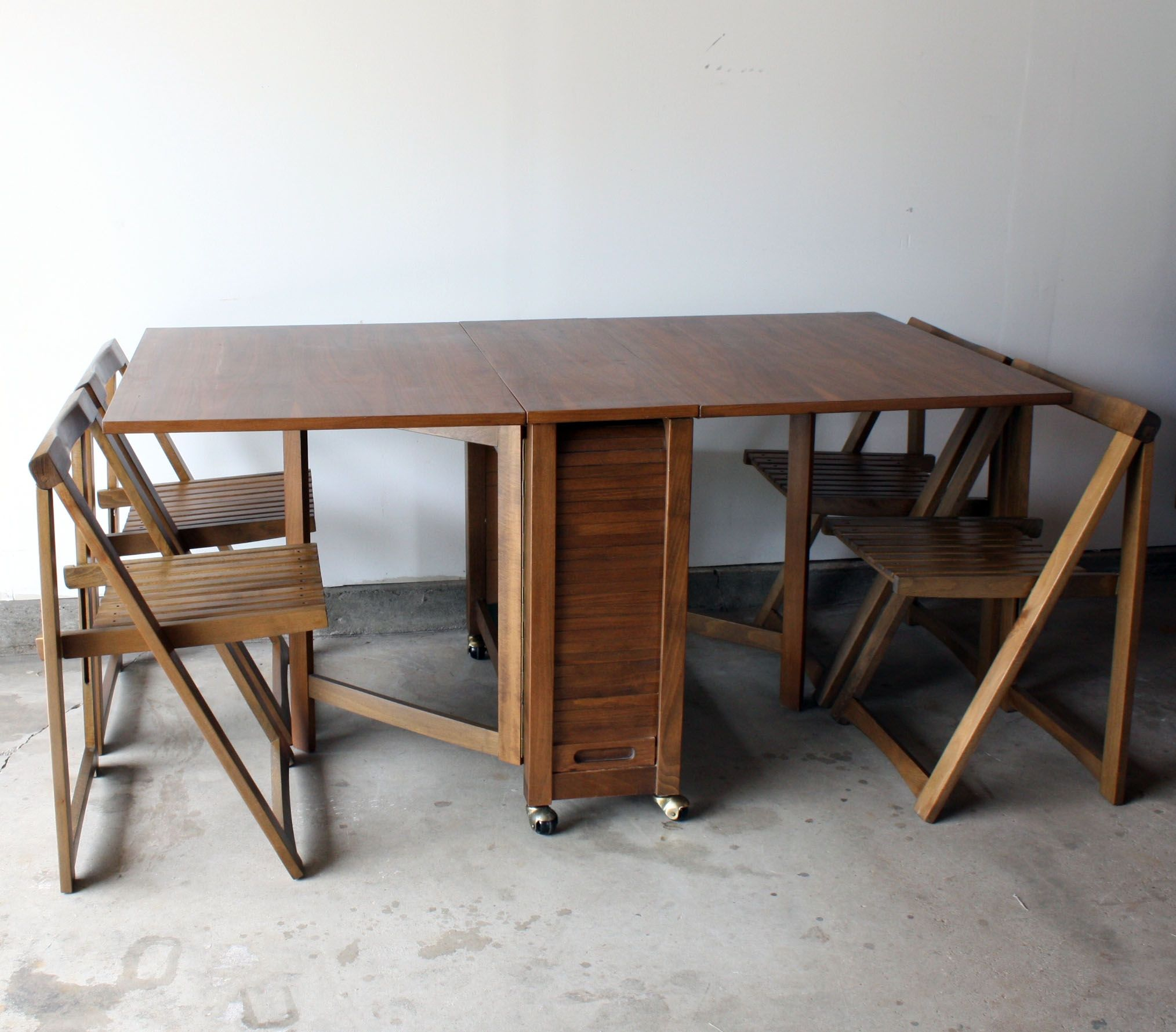 Table With Folding Chairs Inside Drop Leaf Table Drop Leaf Dining Table Leaf Table